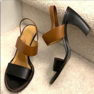 Veronique Branquinho shoes sandals brown black 7.5